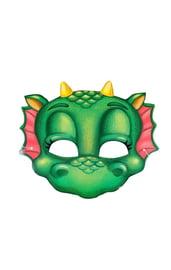 Маска милого зеленого дракончика