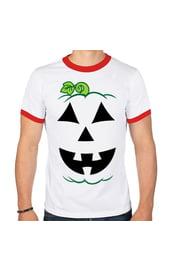 Белая футболка тыква на Хэллоуин