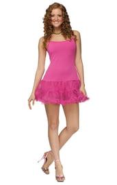 Розовое платье с петти юбкой