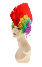 Радужный парик ирокез