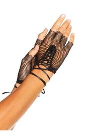 Сетчатые черные перчатки
