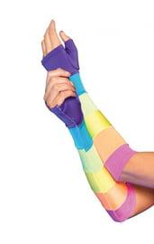 Разноцветные длинные перчатки