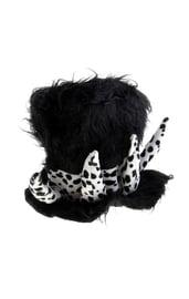 Черная меховая шляпа с рогами