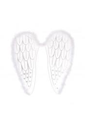 Белые крылья ангела с блестками