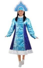 Атласный костюм Снегурочки