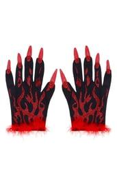 Дьявольские перчатки с красными когтями