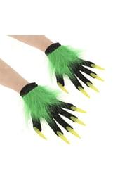 Черные перчатки с когтями