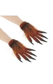 Коричневые перчатки с когтями