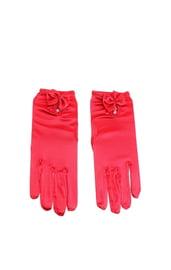 Красные перчатки с бантиком