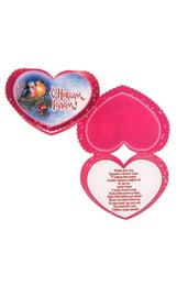Новогодняя открытка розовое сердечко