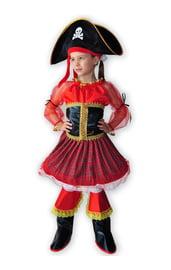 Детский красный костюм пиратки