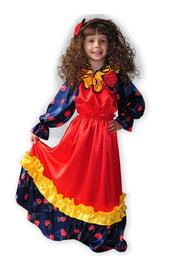 Детский атласный костюм Цыганки