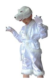 Детский костюм белого медвежонка
