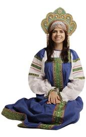 Русский костюм Дуняши синий