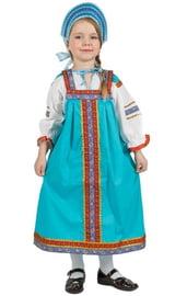 Детский костюм Дуняши бирюзовый