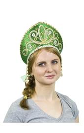 Зеленый кокошник Девичий