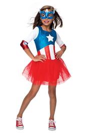Костюм Капитана Америка для девочки