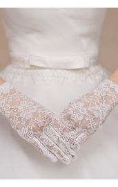 Кружевные белые перчатки