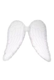 Белые ангельские крылья с пухом
