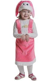 Розовый плюшевый костюм Зайки