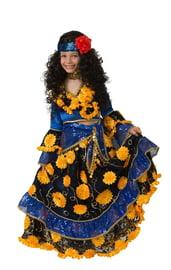 Детский синий костюм цыганки