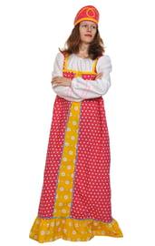 Малиновый костюм Аленушки для взрослых