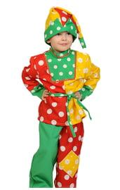 Карнавальный костюм Петрушки для детей