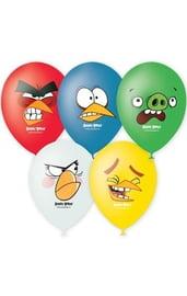 Воздушные шары Angry Birds 5 шт