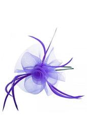 Фиолетовый ободок с цветком