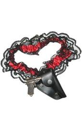 Кружевная подвязка с пистолетом