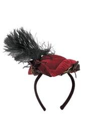 Шляпка-треуголка на ободке