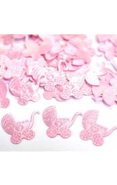 Розовое конфети Коляска