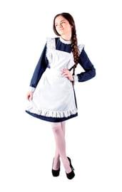 Белый фартук школьницы
