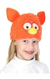 Коралловая шапочка-маска Ферби