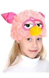 Розовая шапочка-маска Ферби