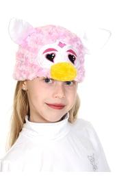 Розовая шапочка с сердечками Ферби