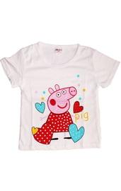 Белая футболка Свинка Пеппа