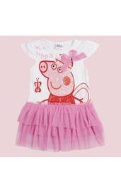Бело-розовое платье Свинка Пеппа