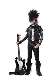 Детский костюм рокера скелета