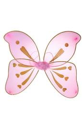 Розовые крылья бабочки с узорами
