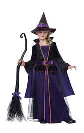 Детский костюм изысканной ведьмочки