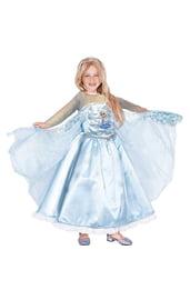 Атласное платье Эльзы из Frozen