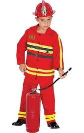 Детский костюм пожарника красный