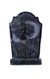 Черное надгробие с ведьмой