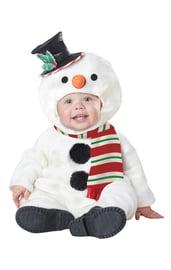 Костюм забавного снеговика для малышей