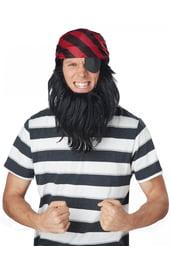 Бандана пирата с бородой