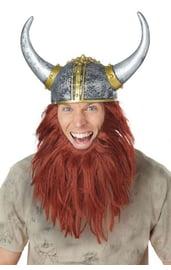 Шлем викинга с бородой