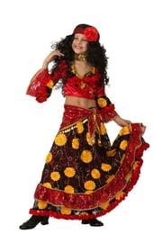 Детский красный костюм цыганки