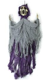 Подвесная декорация Крик фиолетово-серый