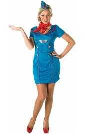 Синий костюм стюардессы